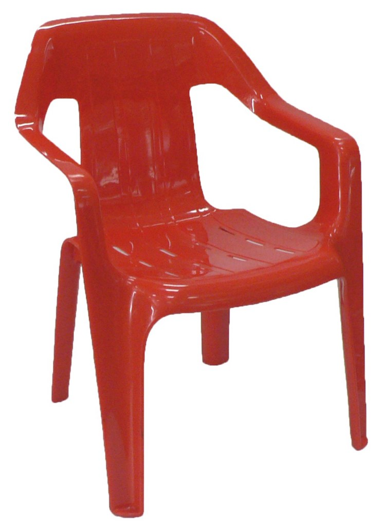 Childrens Plastic Chair - Red [1024x768]
